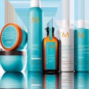 Gama de productos de Moroccanoil disponible en la peluquería de Jávea Art en Tall