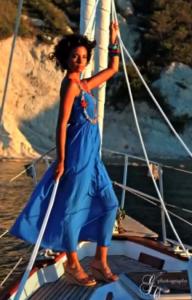 Estilismo y maquillaje Art en Tall sesión de fotos en el mar de Jávea