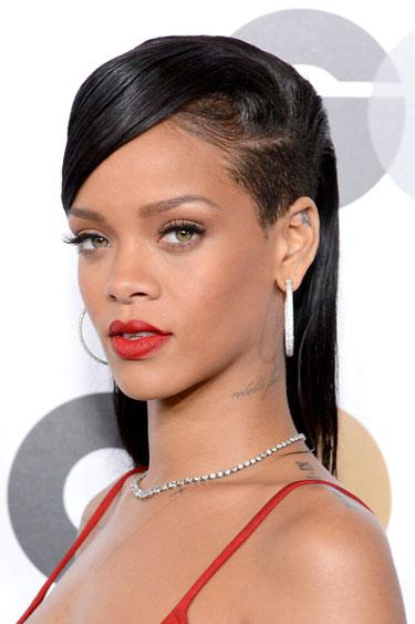 AET Rihanna Sien Rapada Resumen de los mejores peinados de 2012